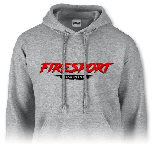 Pánska mikina – Firesport training - šedá