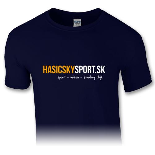 Pánske tričko – logo HasičskýŠport.sk - navy