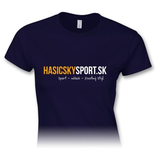 Dámske tričko – logo HasičskýŠport.sk - navy