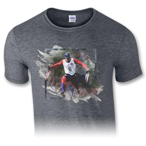 Pánske tričko – Runner 100m - šedá