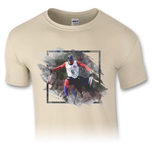 Pánske tričko – Runner 100m - piesková