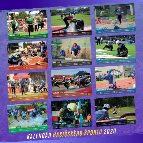 Kalendár hasičského športu 2020 - foto kvalita A3