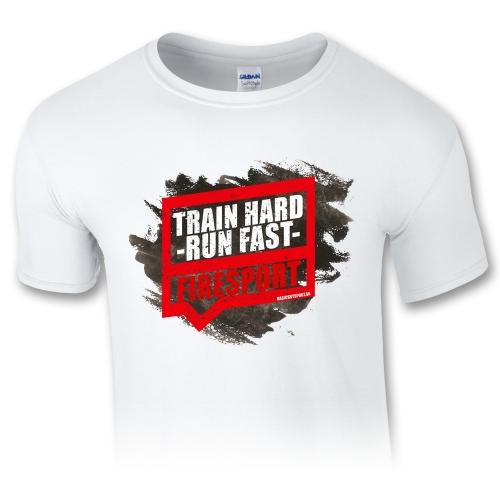 Train hard – run fast – pánske tričko
